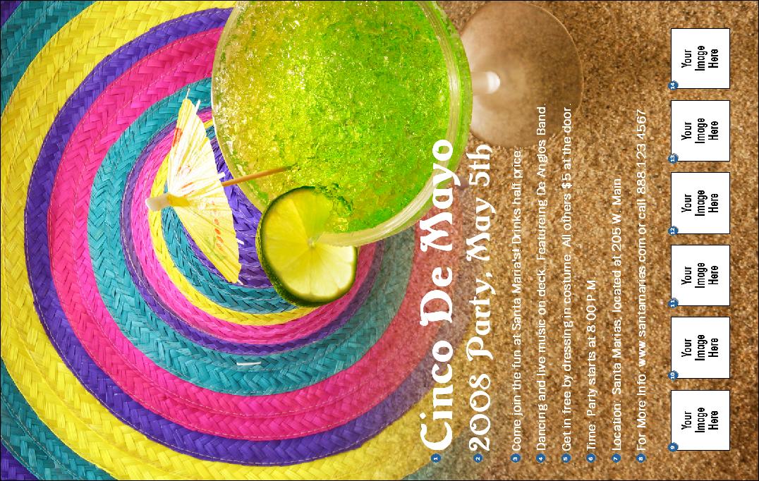 cinco de mayo party invite. Margarita Beach Party Poster