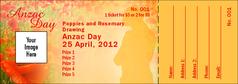 Anzac Day Raffle Ticket