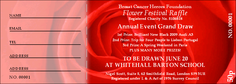 Red Rose Raffle Ticket