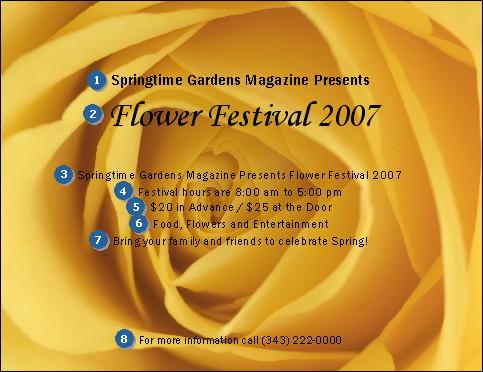 Yellow rose invitation
