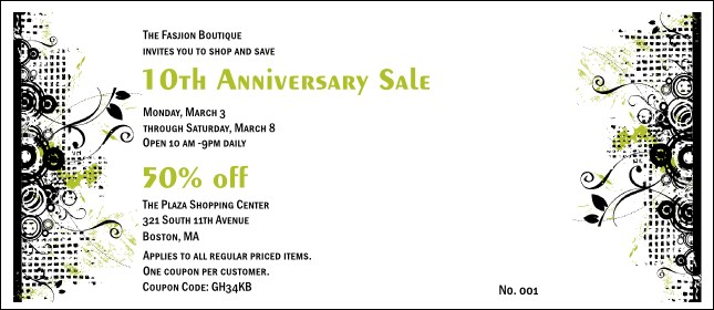 Fashion Show Coupon 2