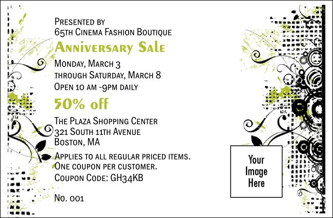 Fashion Show Coupon 1