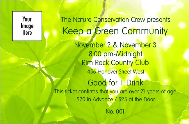 Green Leaves Drink Ticket