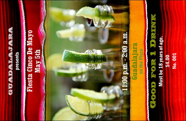 Mas Cervezas Drink Ticket Product Front