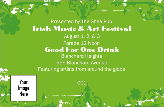 Irish Drink Ticket Product Front