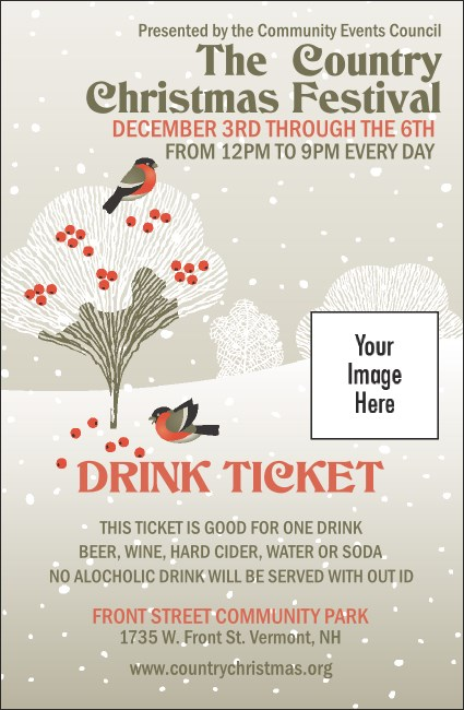 Winter Bird Drink Ticket Product Front