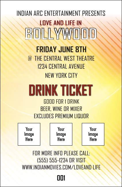 Bollywood Drink Ticket