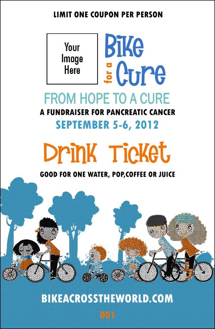 Bike for a Cause Drink Ticket Product Front