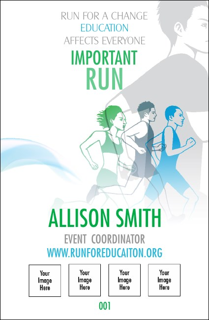 Run for a Cause Blue & Green Drink Ticket