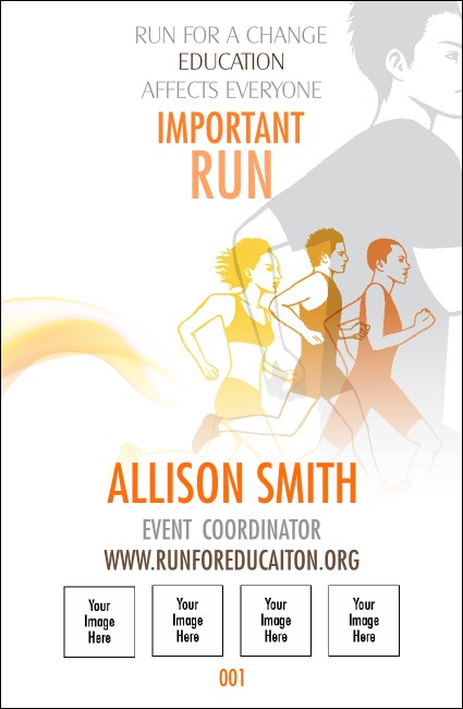 Run for a Cause Orange Drink Ticket Product Front