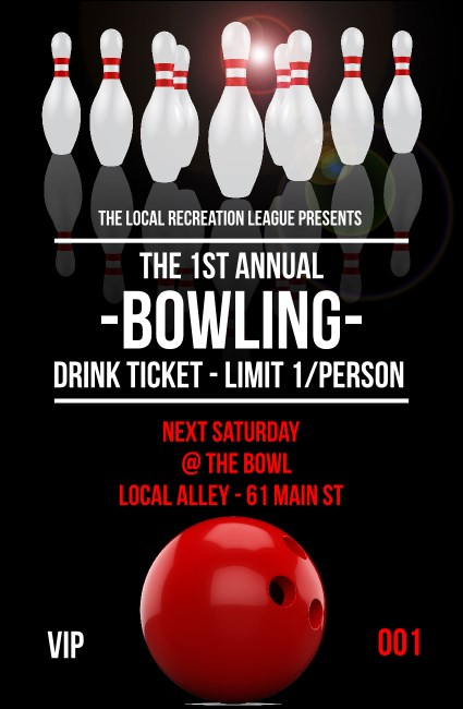 Bowling Classic Drink Ticket