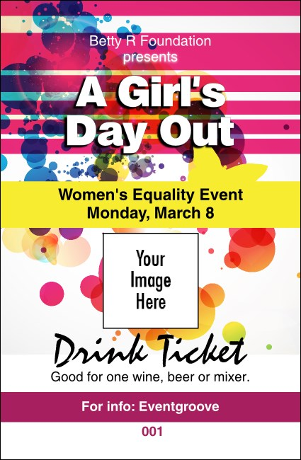 Women's Expo Abstract Drink Ticket