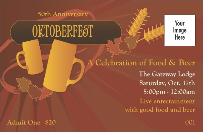 Oktoberfest Red Drink Ticket Product Front