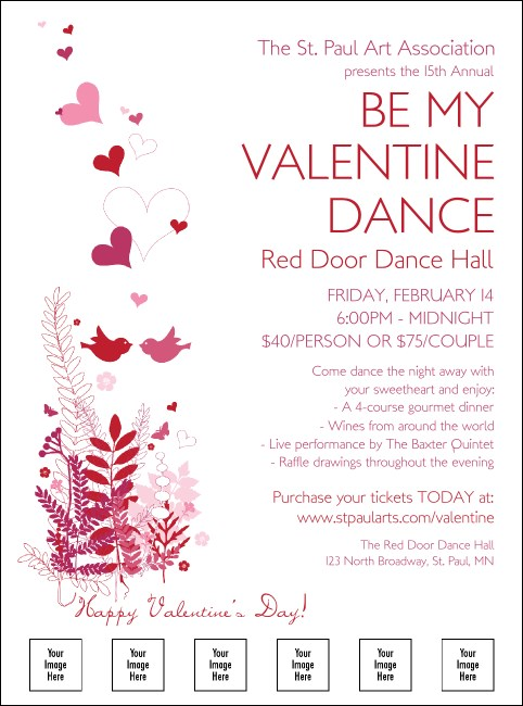 Valentine Love Birds Logo Flyer