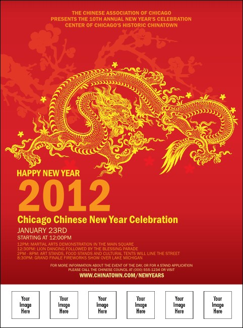 Chinese New Year Flyer With Place Holder Image