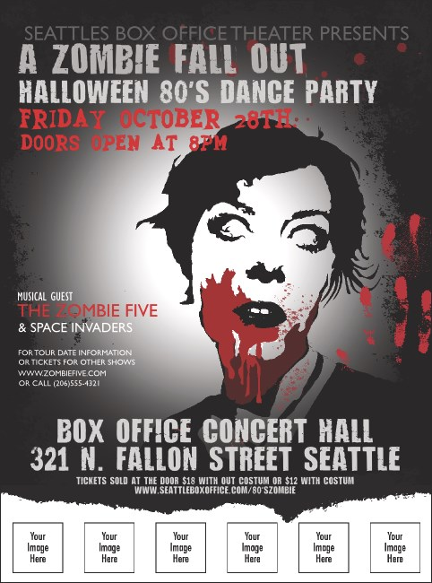 Zombie Woman Logo Flyer