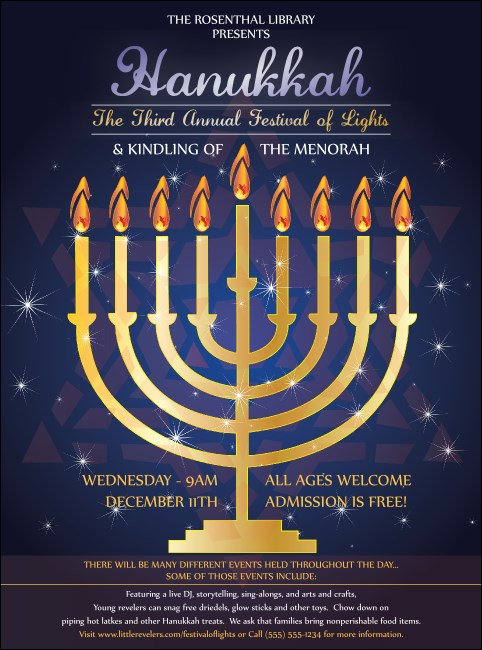Hanukkah Menorah Flyer