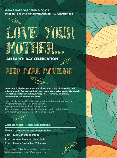 Earth Day Organic Flyer