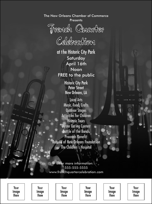 Jazz Concert Flyer (Black and White)