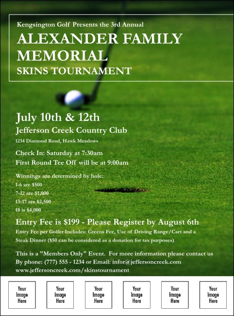 Golf Photo Logo Flyer