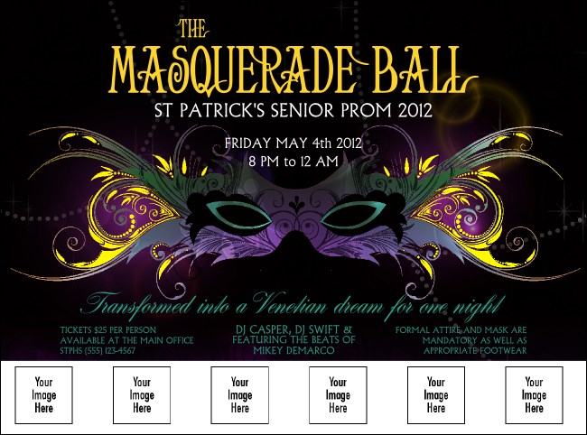 Masquerade Ball Logo Flyer