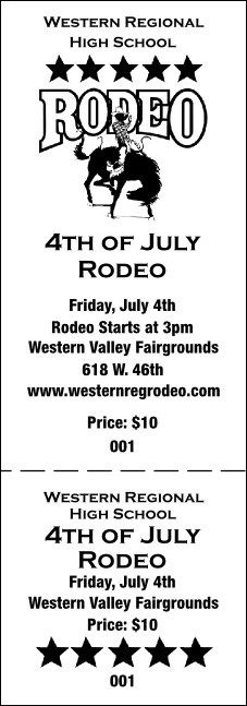 Rodeo General Admission Ticket 001
