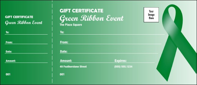 Green Ribbon Gift Certificate