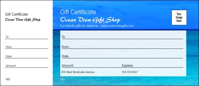 Blue ocean template image collections templates design ideas series blue ocean gift certificate nature series blue ocean gift certificate pronofoot35fo image collections pronofoot35fo Choice Image