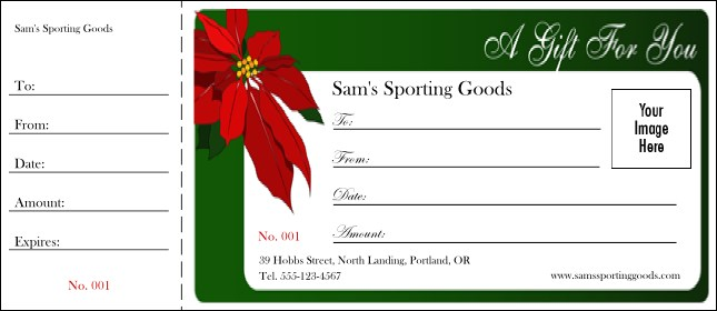 Christmas Gift Certificate Ideas.Christmas Poinsettia Gift Certificate 001