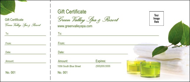 Spa Logo Gift Certificate