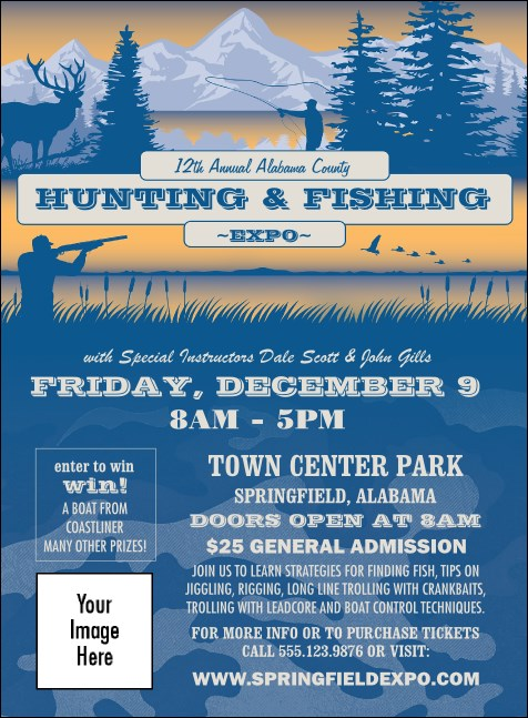 Fishing and Hunting Expo Invitation