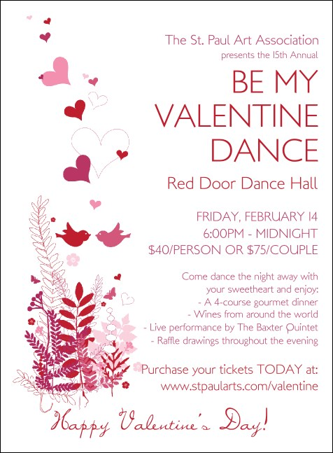 Valentine Love Birds Invitation