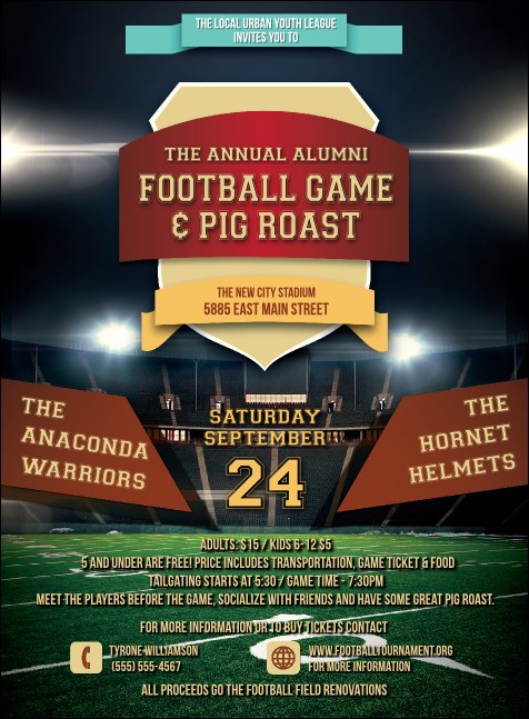 American Football Lights Invitation