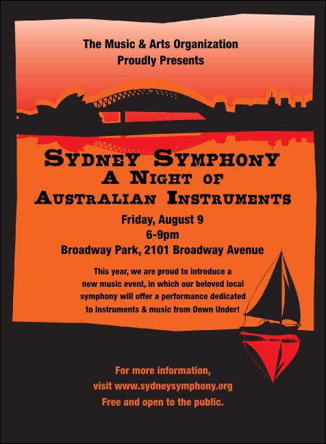Sydney Invitation (Orange)
