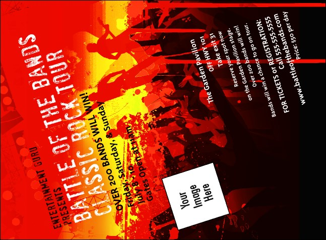Rock Concert Red Invitation