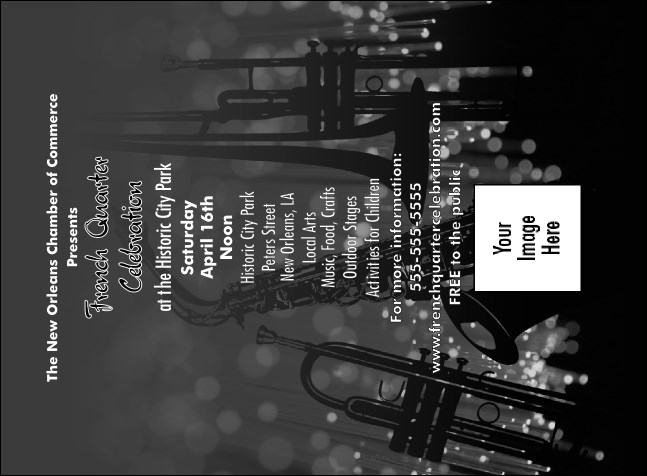 Jazz Concert Invitation (Black and White)