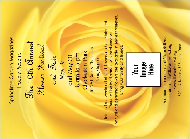 Yellow Rose Invitation