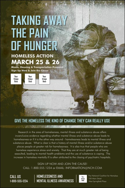 Homeless & Hungry Poster