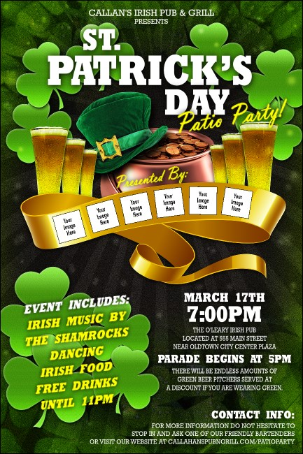 St. Patrick's Day Party Poster