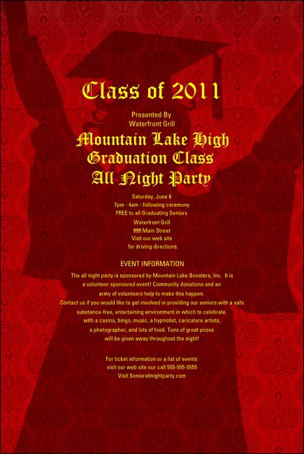 Cap and Gown Poster