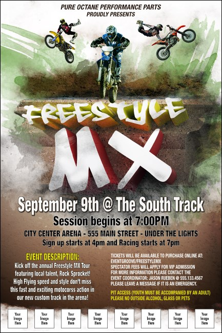 Freestyle MX Logo Poster