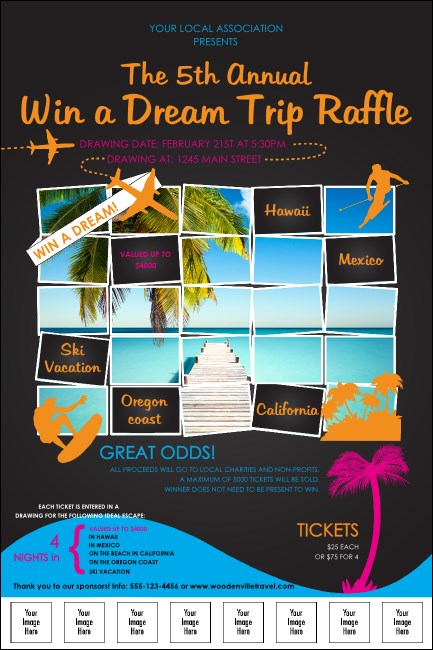 Win a Vacation Logo Poster