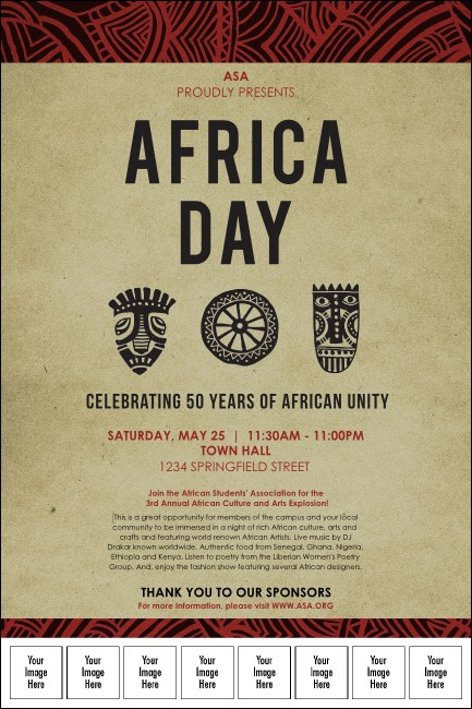 African Theme Logo Poster