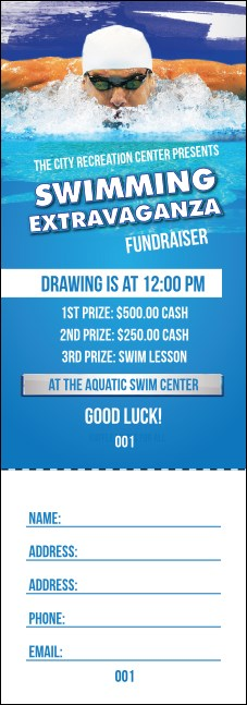 Swimming Raffle Ticket