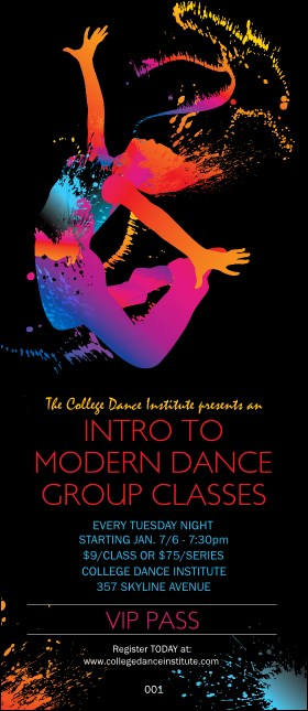 Modern Dance Black VIP Pass