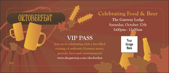 Oktoberfest Red VIP Pass Product Front