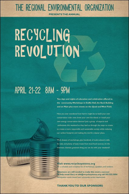 Recycling Event Poster
