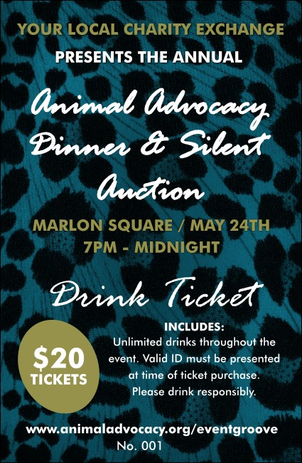 Animal Print Drink Ticket Product Front