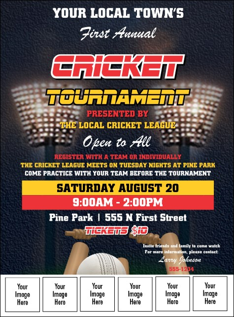 Cricket 2 Logo Flyer