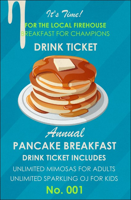 Pancake Stack Drink Ticket